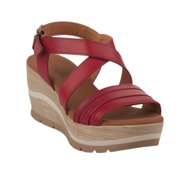 Nu pieds femme - PAULA URBAN - Rouge