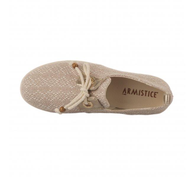 Chaussures à lacets femme - ARMISTICE - Naturel