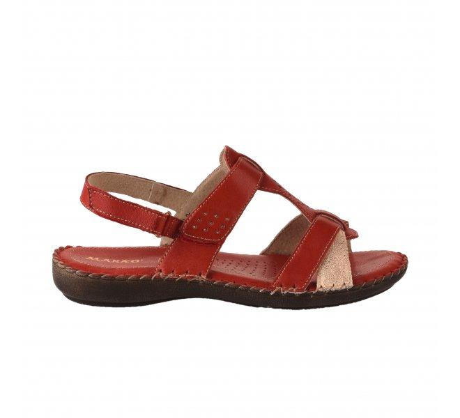 Nu pieds femme - MARKO' - Rouge