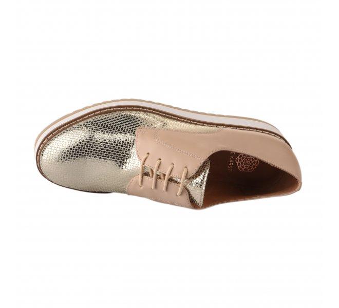 Chaussures à lacets femme - EMILIE KARSTON - Beige argent