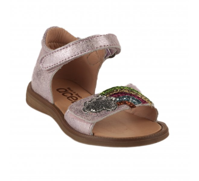 Nu-pieds fille - ACEBOS - Rose