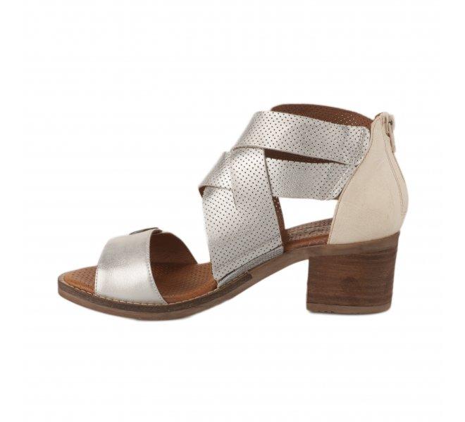 Nu pieds femme - CASTA - Blanc argent