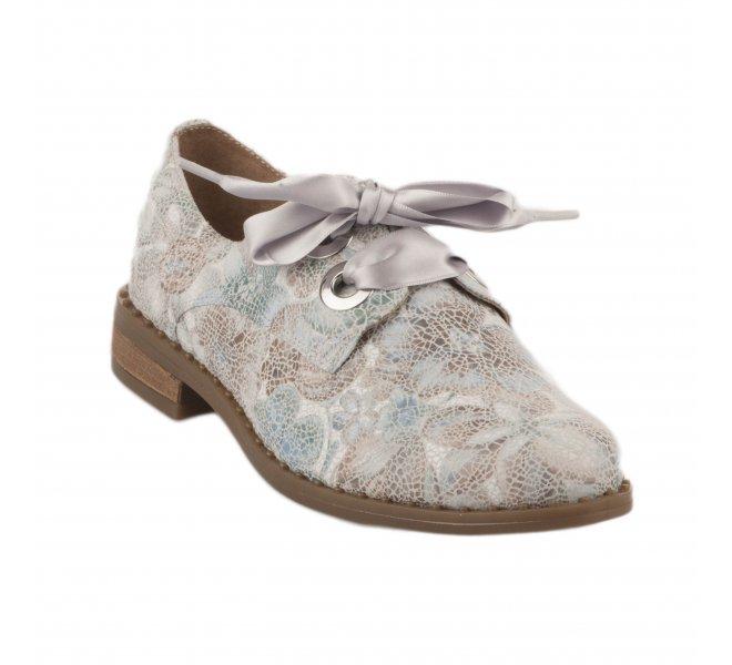 Chaussures à lacets femme - GEO REINO - Bleu gris