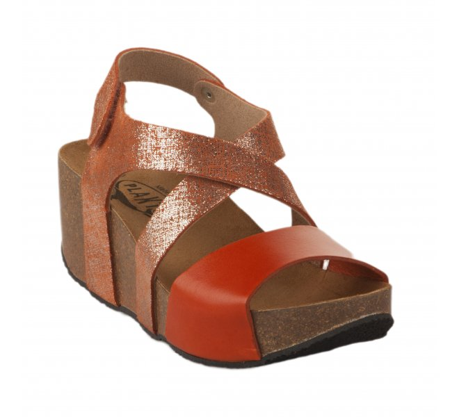 Nu pieds femme - PLAKTON - Orange