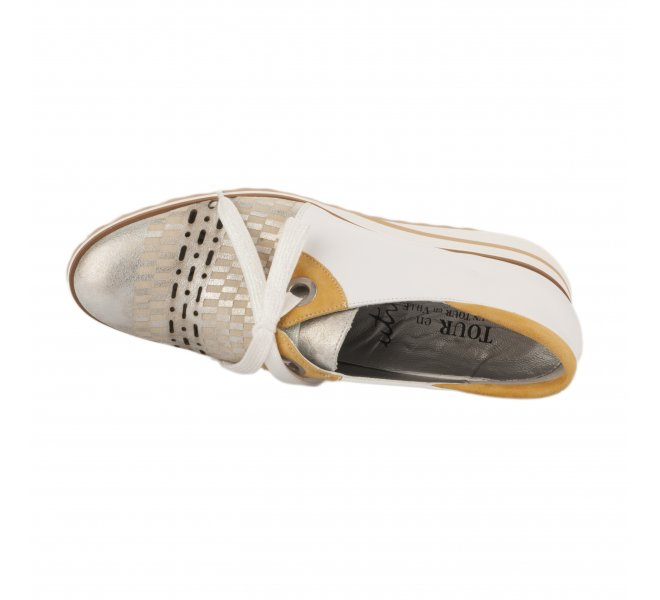Chaussures à lacets femme - UN TOUR EN VILLE - Blanc