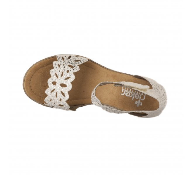 Nu pieds femme - RIEKER - Blanc