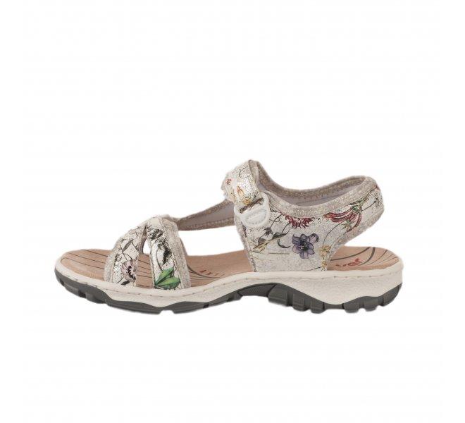 Nu pieds femme - RIEKER - Multicolore