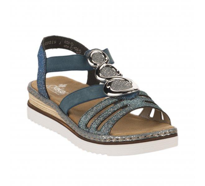 Nu pieds femme - RIEKER - Bleu marine