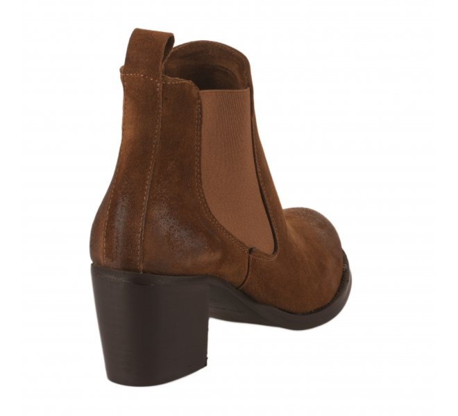 Boots femme - SO SEND - Naturel