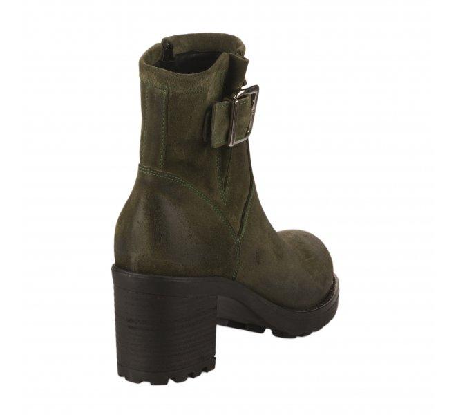 Boots femme - SO SEND - Vert fonce