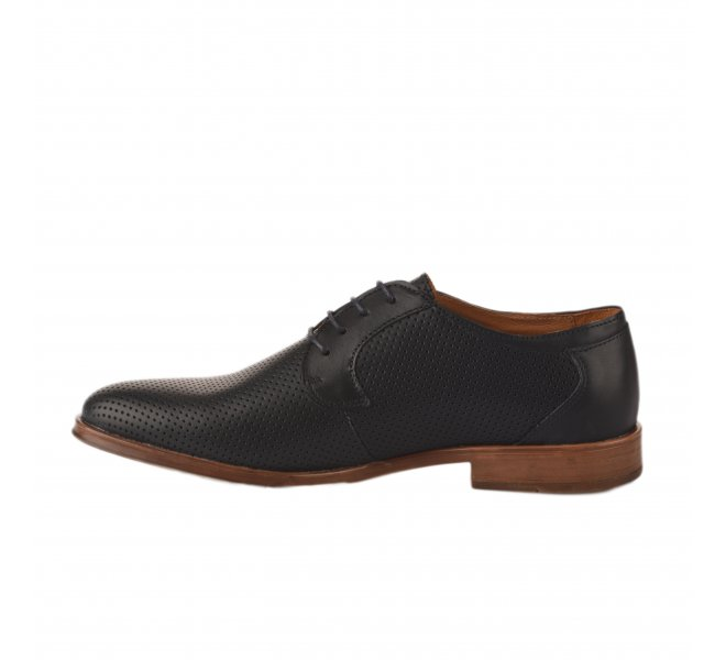 Chaussures à lacets homme - FIRST COLLECTIVE - Bleu marine
