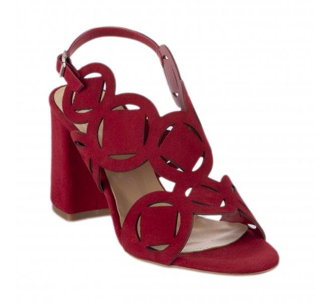 Nu pieds femme - STYME - Rouge