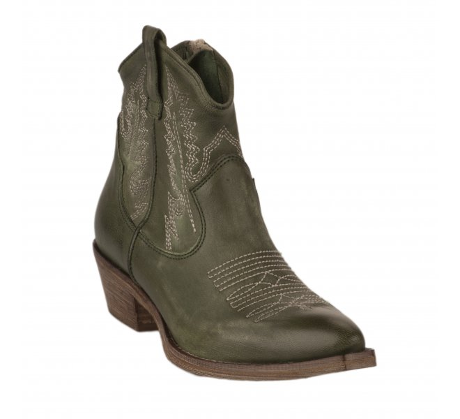 Boots femme - METISSE - Vert fonce
