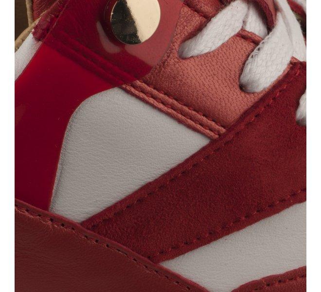 Baskets mode femme - M.L.V - Rouge