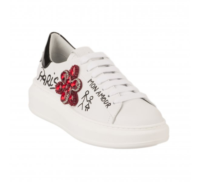 Baskets fille - GIO+ - Blanc