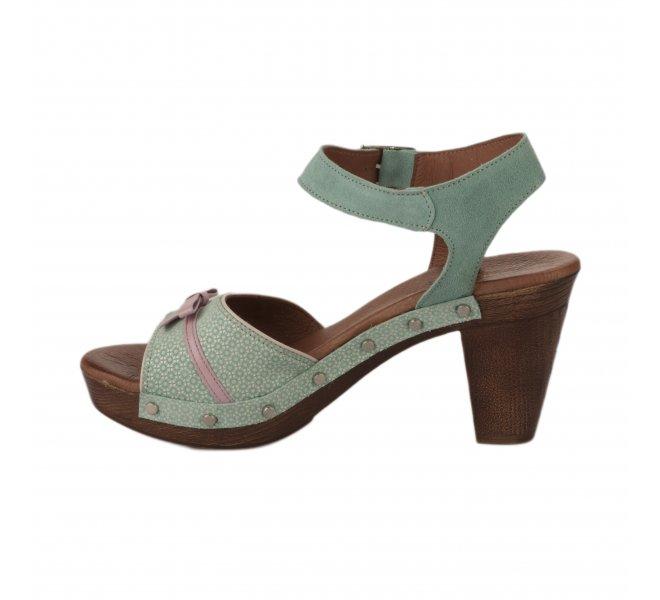 Nu pieds femme - NEMONIC - Bleu turquoise