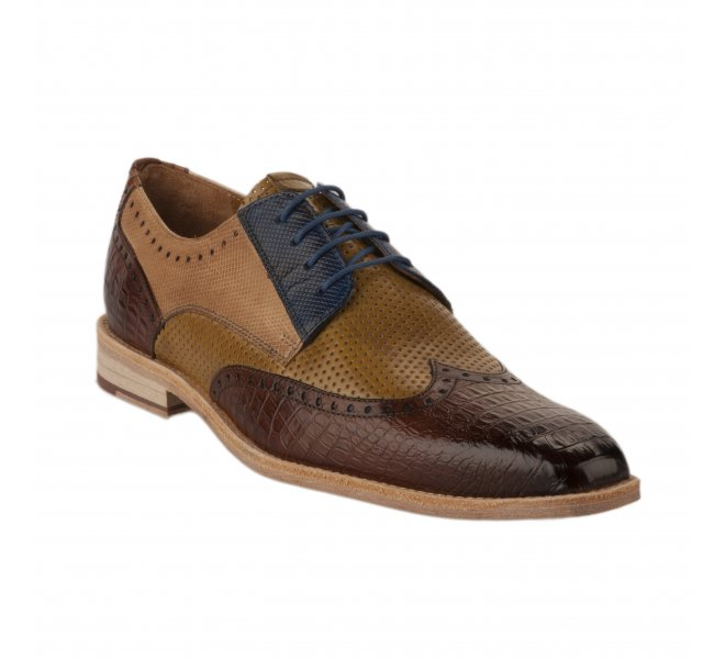 Chaussures à lacets homme - MELVIN & HALMILTON - Marron