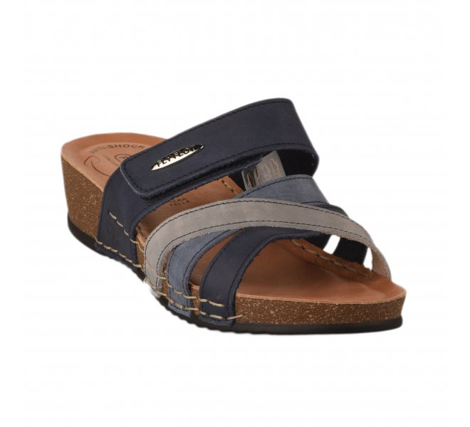 Chaussures de confort femme - FLY FLOT - Bleu marine