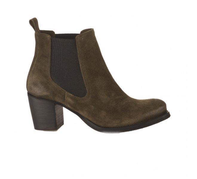 Boots femme - SO SEND - Kaki