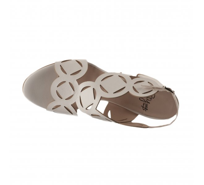Nu pieds femme - STYME - Blanc