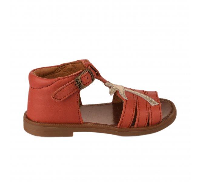 Nu-pieds fille - GBB - Corail