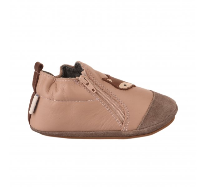 Chaussons fille - ROBEEZ - Rose fonce