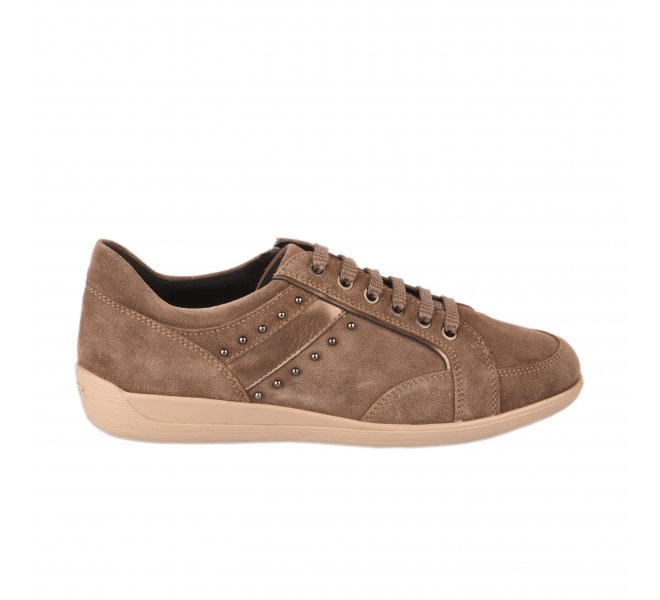 Baskets mode femme - GEOX - Taupe