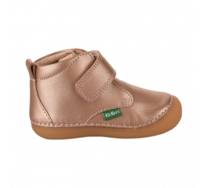 Bottines fille - KICKERS - Rose poudre