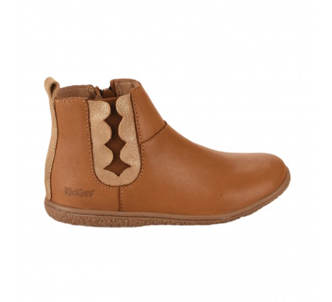 Boots fille - KICKERS - Naturel