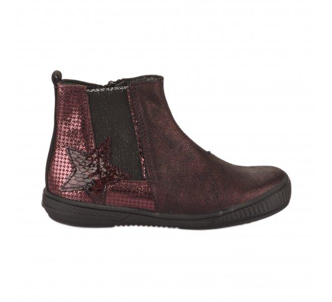 Boots fille - FéTéLACé - Rouge bordeaux