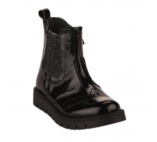 Boots fille - FéTéLACé - Noir verni