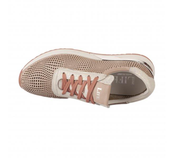 Baskets mode femme - LIFE - Rose