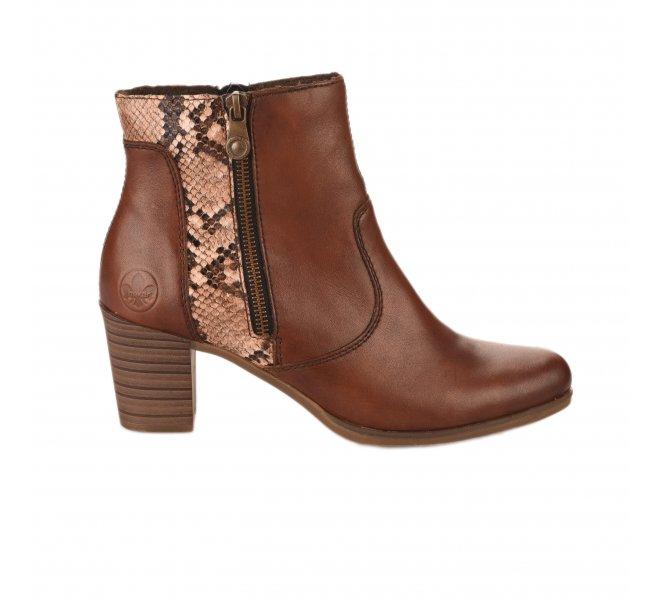 Boots femme - RIEKER - Naturel