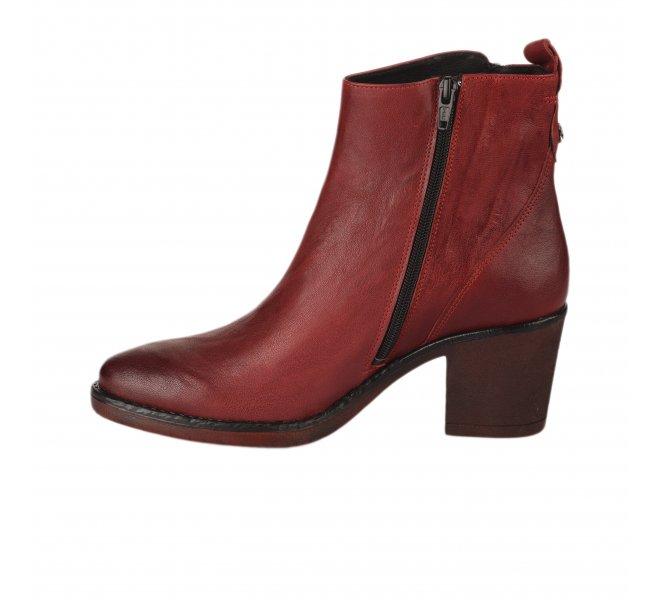 Boots femme - LA VIE EST BELLE - Rouge
