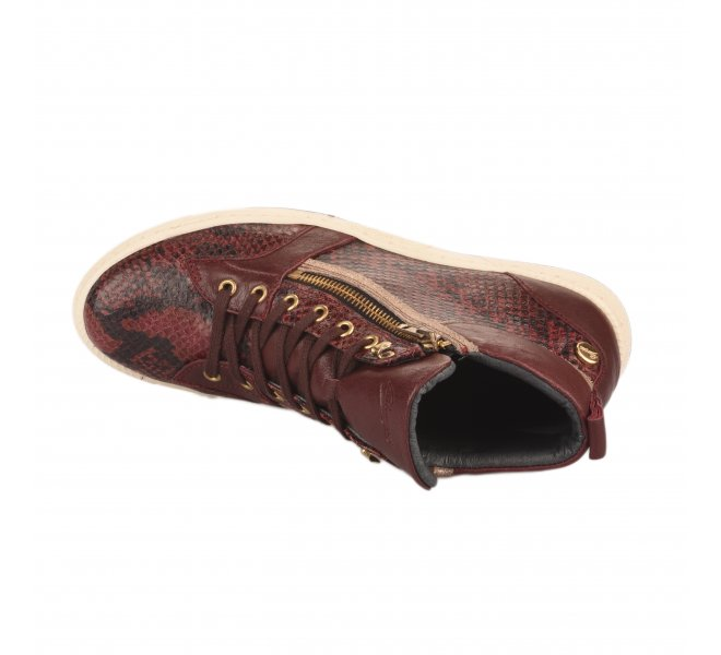 Baskets mode femme - PATAUGAS - Rouge bordeaux