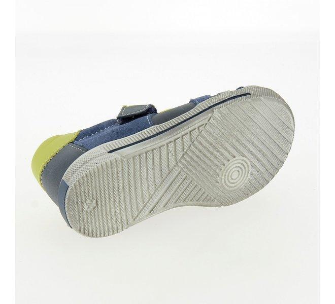 Chaussures à lacets garçon - CHAUSSMOME - Bleu