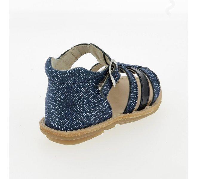 Nu-pieds fille - CHAUSSMOME - Bleu marine