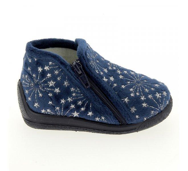 Pantoufles fille - BELLAMY - Bleu marine