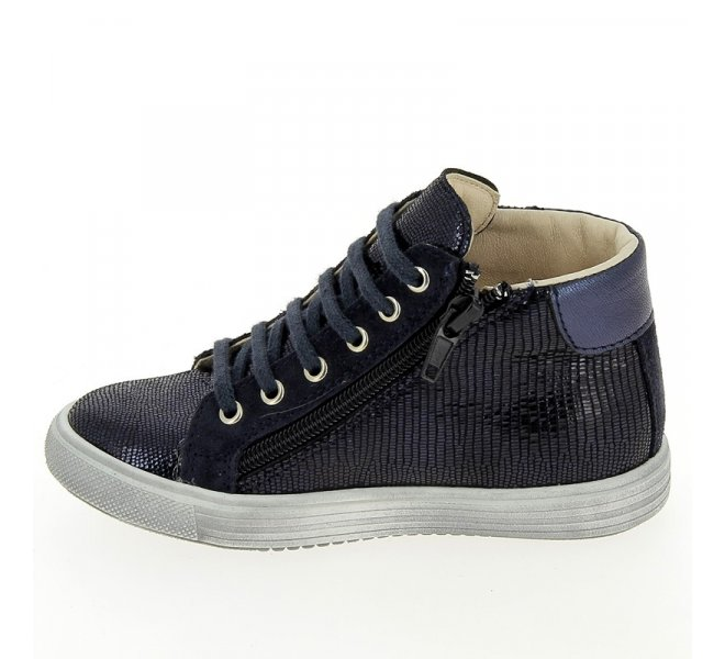 Bottines fille - CHAUSSMOME - Bleu marine