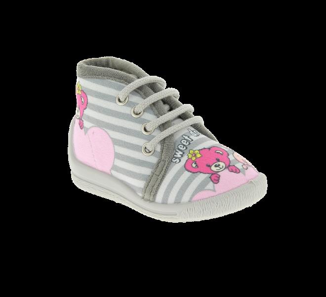 Pantoufles fille - BELLAMY - Gris