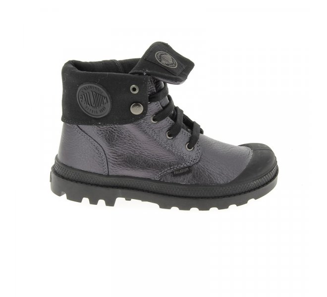 Bottines fille - PALLADIUM - Gris