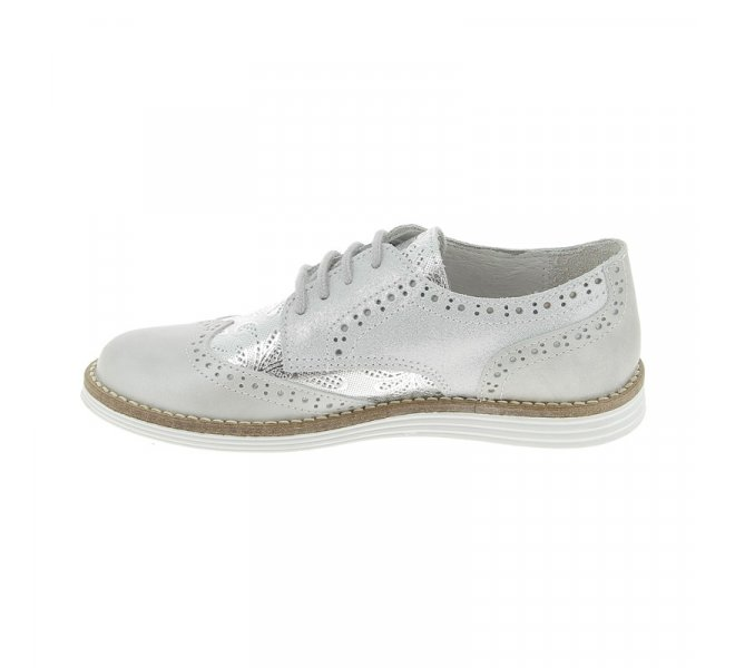 Chaussures basses fille - CHAUSSMOME - Gris