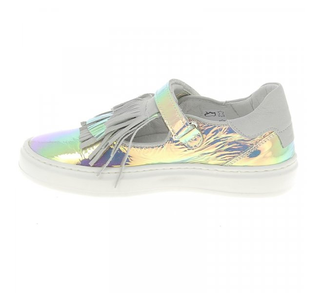Chaussures basses fille - COMPAGNUCCI - Gris argent