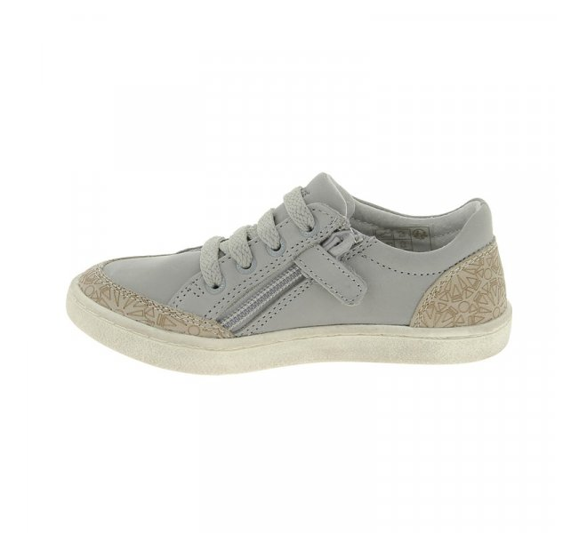 Chaussures basses fille - KICKERS - Gris