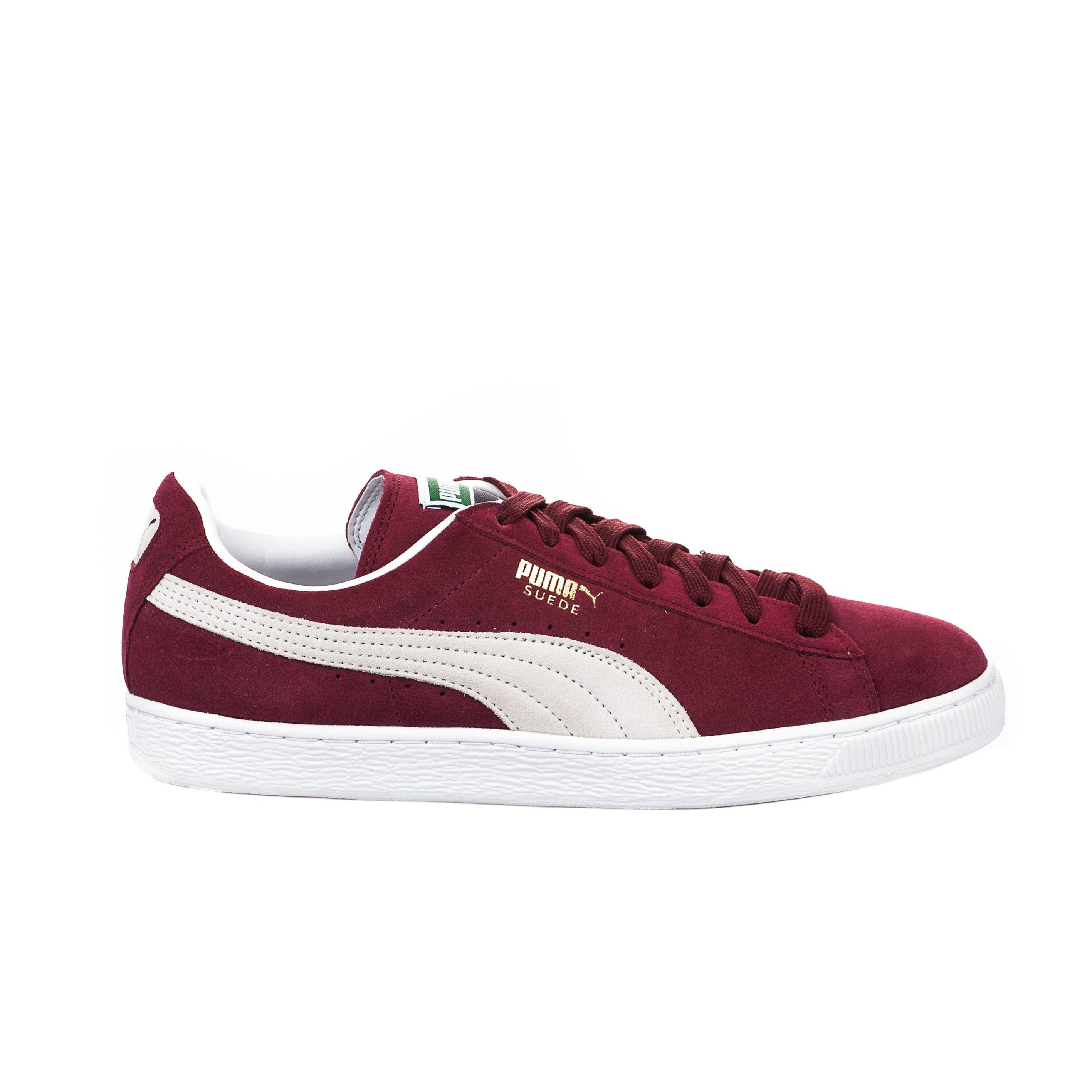 Baskets Puma rouge bordeaux garçon - SUEDE CLASSIC BORDEAU - 65354