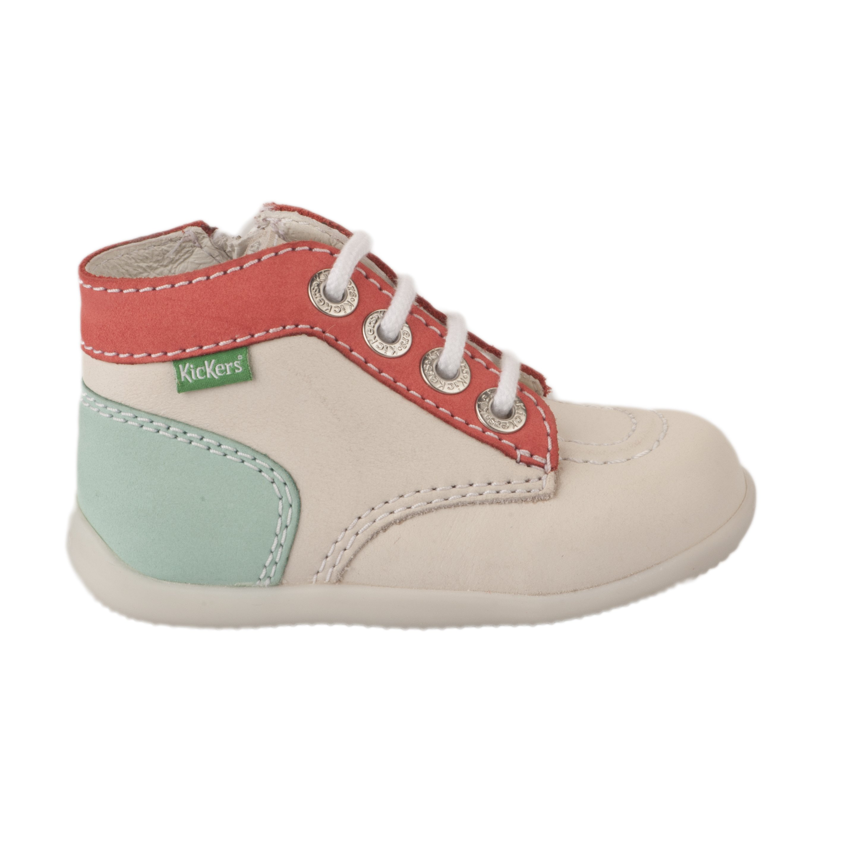 Bottines fille KICKERS Blanc ivoire