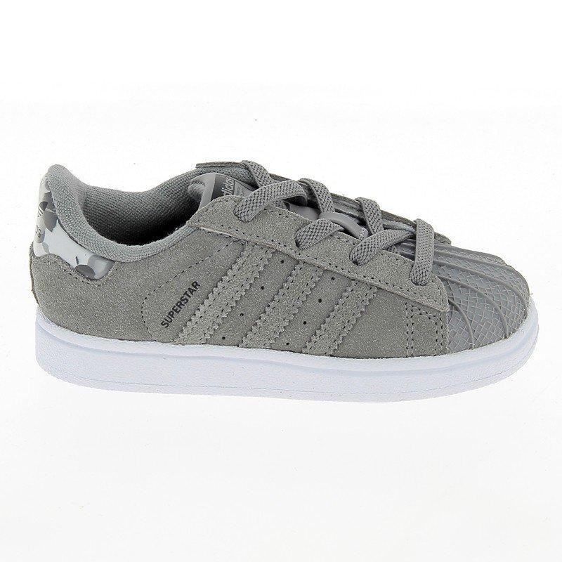 Chaussures Adidas gris homme - SUPERSTAR Daim Croute Gris - CM0830