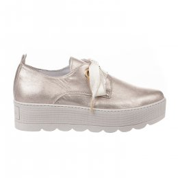Chaussures à lacets femme - LOUISA - Beige rose