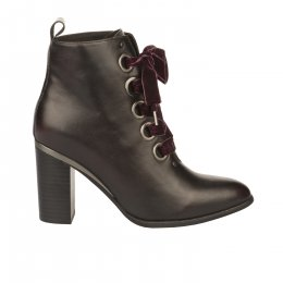 Bottines femme - FEMME  PLUS - Rouge bordeaux