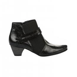 Boots femme - UN TOUR EN VILLE - Noir verni